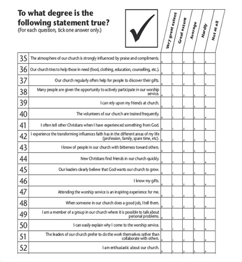 Church Survey Template 11 Free Word Pdf Documents Download Free Premium Templates Church Needs Assessment Template
