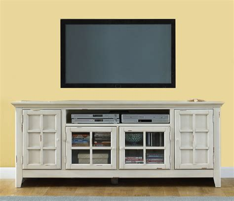 antique white tv cabinet new generation 75 inch tv stand in vintage white finish by