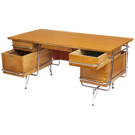 Heywood Wakefield Desk Chair In The Manner Of Kem Weber Desk And Chair