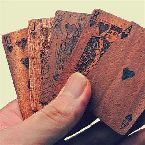 woodworking laser wooden cards the awesomer