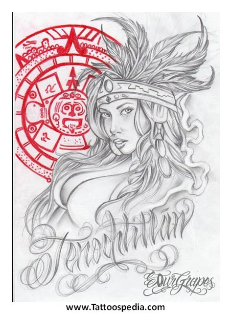 aztec woman tattoo designs aztec tattoos
