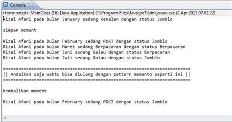 design pattern java adalah pattern memento di java c dan php contoh download