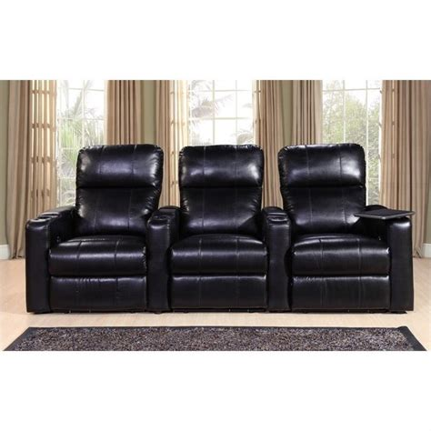 home theater power recliners pri larson power recliner home theater seating in black