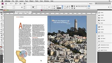 layout magazine program designing a magazine layout