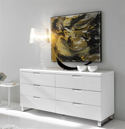 Modern Drawers by Modern Chest Of Drawers In White High Gloss