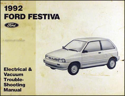 car maintenance manuals 1992 ford escort head up display 1992 ford festiva factory foldout wiring diagram original