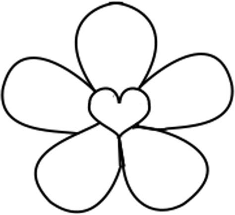 basic flower templates clipart best