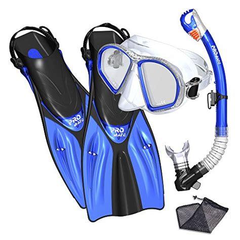 Harga Murah Snorkeling Mask Blue promate spectrum snorkeling fins mask snorkel set yellow small 11street malaysia scuba
