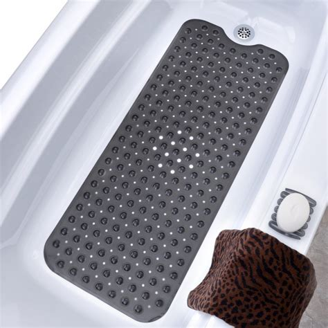 bathtub slip mat extra long bath mats long non slip bathtub shower mats