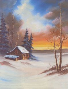 bob ross painting dock painting mountain glaciers complete lesson acrylic paint