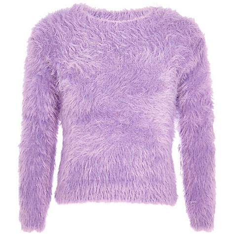 Kitchen Island With Chairs Girls Purple Long Sleeve Fluffy Jumper Cardigans