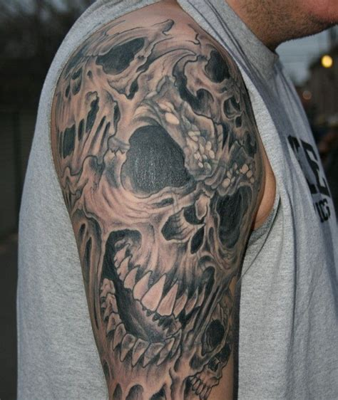 dragon skull tattoo designs and skull designs skull tattoos sleeves