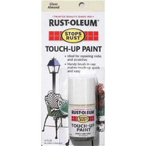 home depot car touch up paint rust oleum stops rust 0 45 oz gloss almond touch up paint