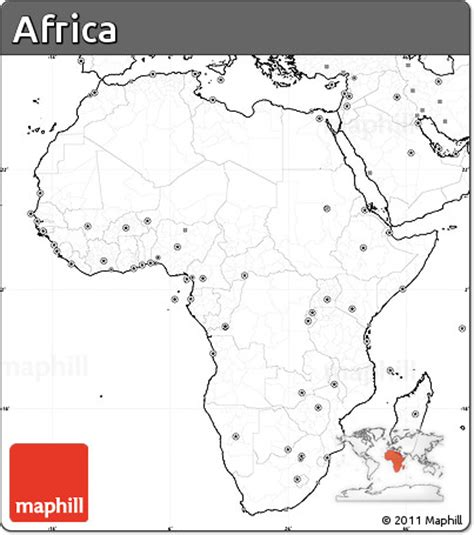 africa map with labels free blank simple map of africa no labels