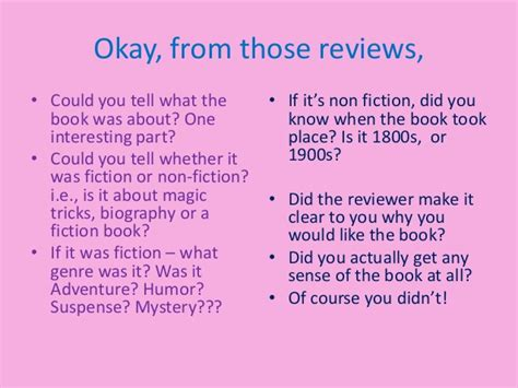 Write Book Reviews by How To Write A Book Review