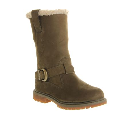 womens timberland nellie pull on boot olive nubuck