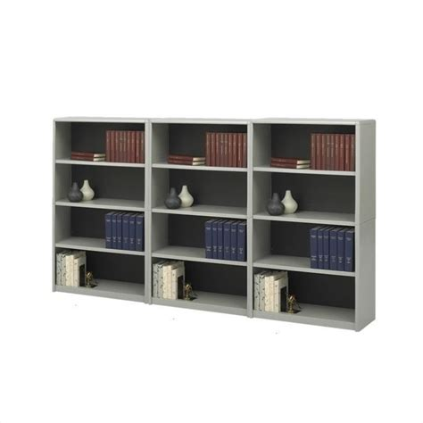 safco 4 shelf valuemate economy steel wall bookcase in