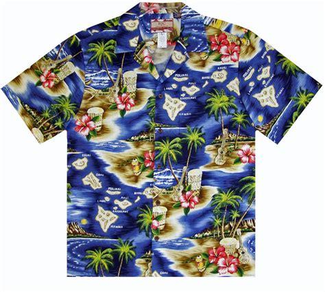 hawaiian shirt palm isle mens hawaiian aloha shirt in navy