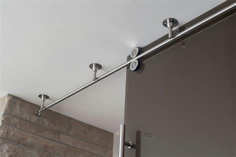 Garage Door Decorative Hardware Home Depot by Mwe Barn Door Track System Twin System Modern Home