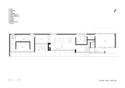 Long Floor Plans by Gallery Of Slight Slope Long House I O Architects 18