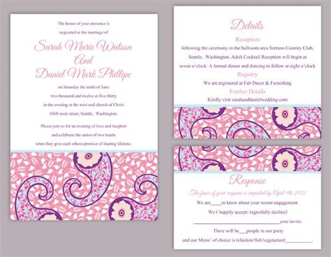 templates for indian wedding website diy bollywood wedding invitation template set editable