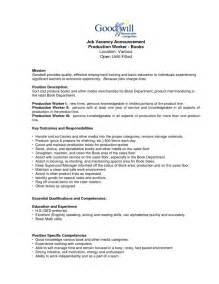 Warehouse Operative Description Template by 18 Warehouse Operative Description Template Shop