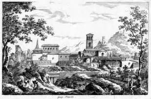 gaspard duguet paysage avec la basilique de saint jean