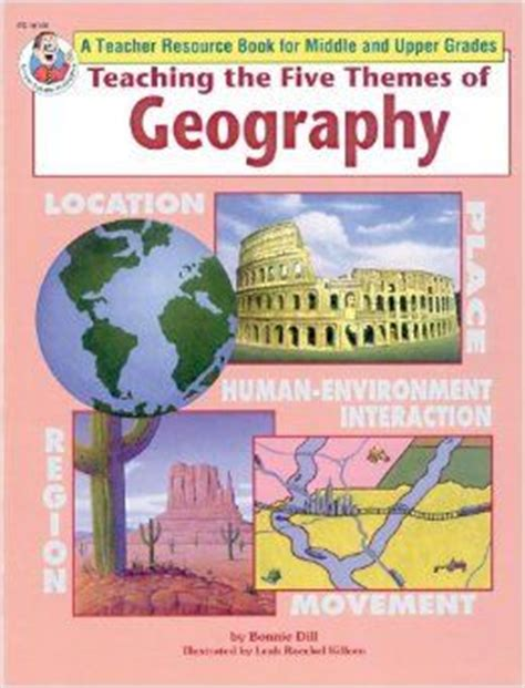 5 themes of geography history teaching the five themes of geography middle and upper