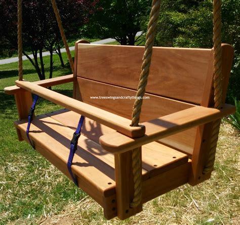 wood swing seat seat wood tree swings
