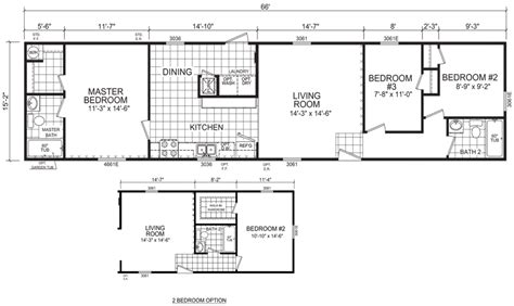 home floor plans sle morgan 16 x 66 1001 sqft mobile home factory expo home
