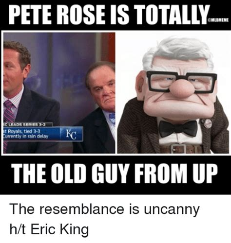 Pete Rose Meme - pete rose is mlbmeme c leads series 3 2 at royals tied 3 3