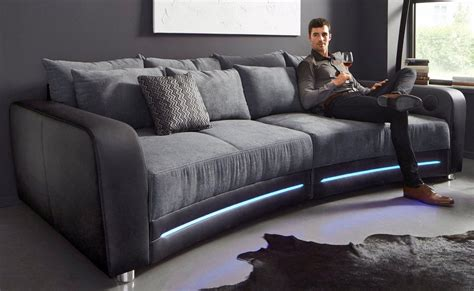 big sofa inklusive rgb led beleuchtung kaufen otto