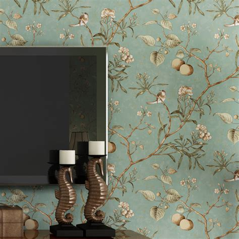 wallpaper for room walls in pune american village retro old pastoral nonwovens wallpaper