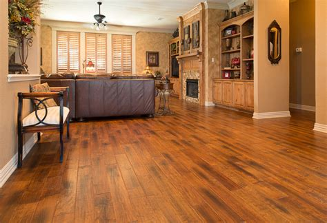 Wood Floor Living Room Ideas Wood Flooring Traditional Living Room Dallas By American Tile