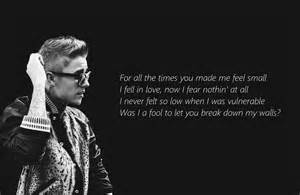 Justin bieber love yourself lyrics 2015 youtube