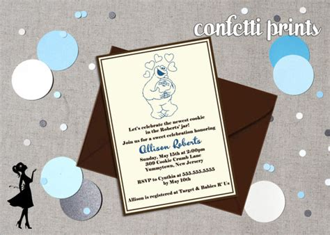 Cookie Baby Shower Invitations by Cookie Baby Shower Invitation By Confettiprintsshop
