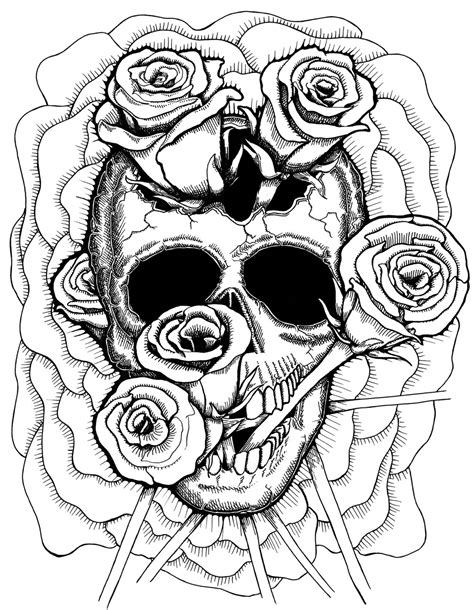 gogh coloring book grayscale coloring for relaxation coloring book therapy creative grayscale coloring books trippy coloring pages skull and roses coloringstar