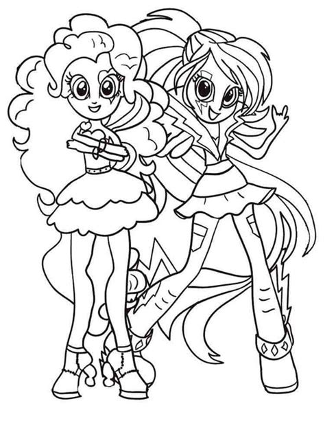 My Equestria Pinkie Pie And Jack Coloring Page My Little Equestria Pinkie Pie Coloring Pages Free