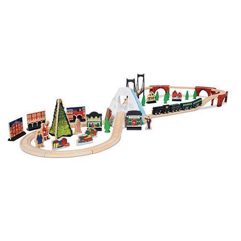 brio polar express train set imaginarium the polar express 60 piece wooden train set ebay
