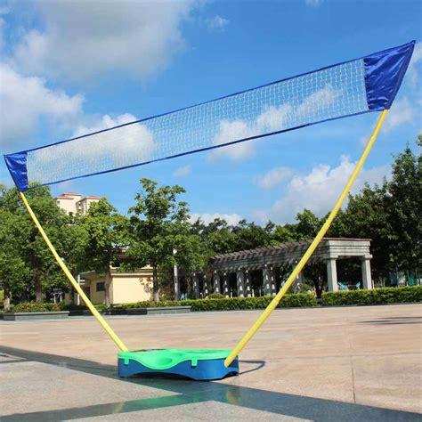 backyard volleyball net portable badminton set volleyball net battledore outdoor