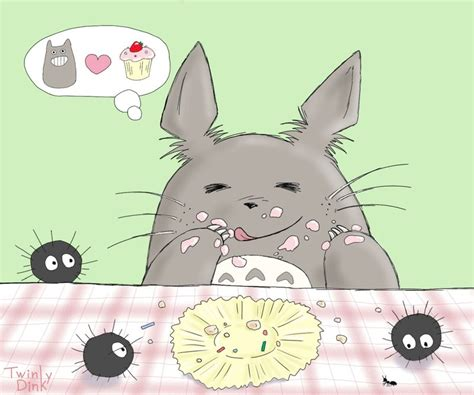 Cupcake Of The Week My Edible Totoro by Totoro With Cupcake 2 By Twinky Dink On Deviantart