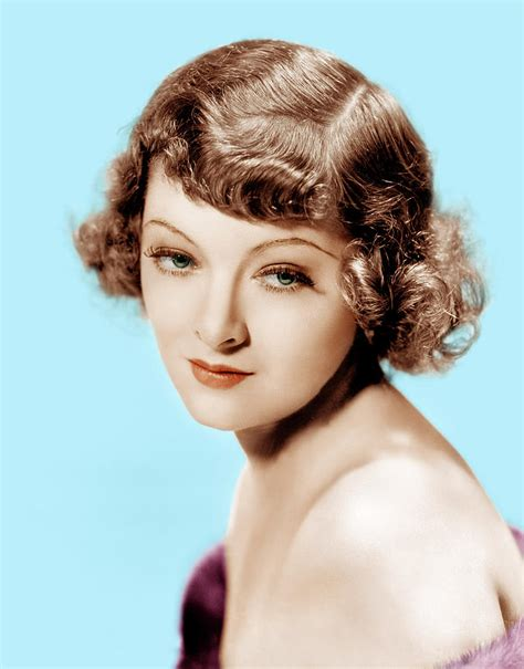 1930s hairstyles coloured photos myrna loy mgm portrait 1930s photograph by everett