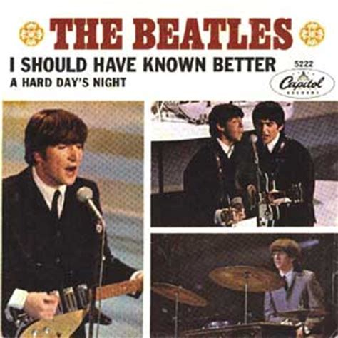i should known better quot i should known better quot by the beatles the in depth
