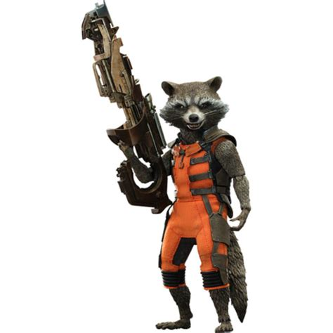 Home hot toys guardians of the galaxy rocket raccoon 1 6 scale figure