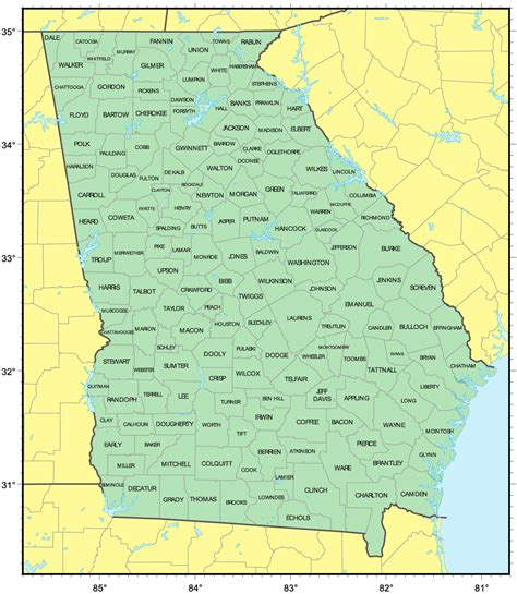 best towns in georgia best photos of map of georgia cities georgia counties