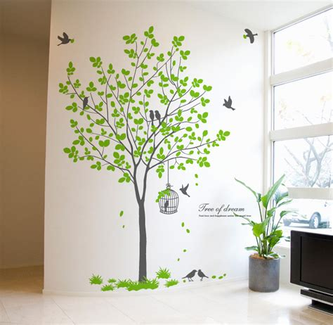 birds birdcage tree wall decor decals wallstickerycom