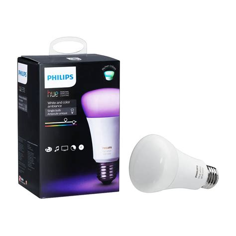 philips hue smart light bulbs philips hue white and color ambiance 60 equivalent