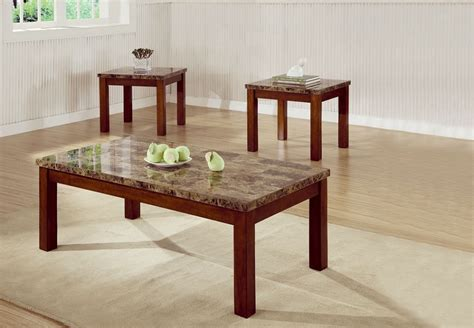 3 piece living room table set dreamfurniture com 700305 3 piece occasional table set