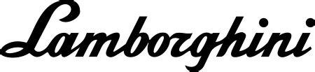 Lamborghini Writing Lamborghini Logo Vector In Eps Vector Format
