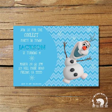 printable olaf party invitations 201 best images about frozen themed party on pinterest
